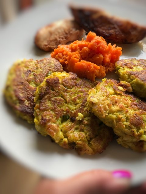 fritatta's van bloemkool en broccoli