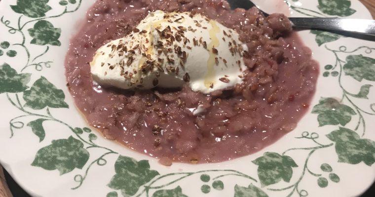 Frambozenpap met Turkse yoghurt