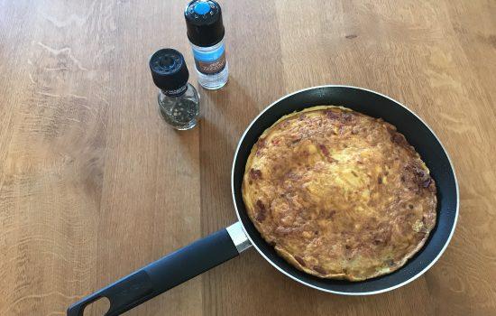 Omelet met zoete aardappel: da's een stevig ontbijt