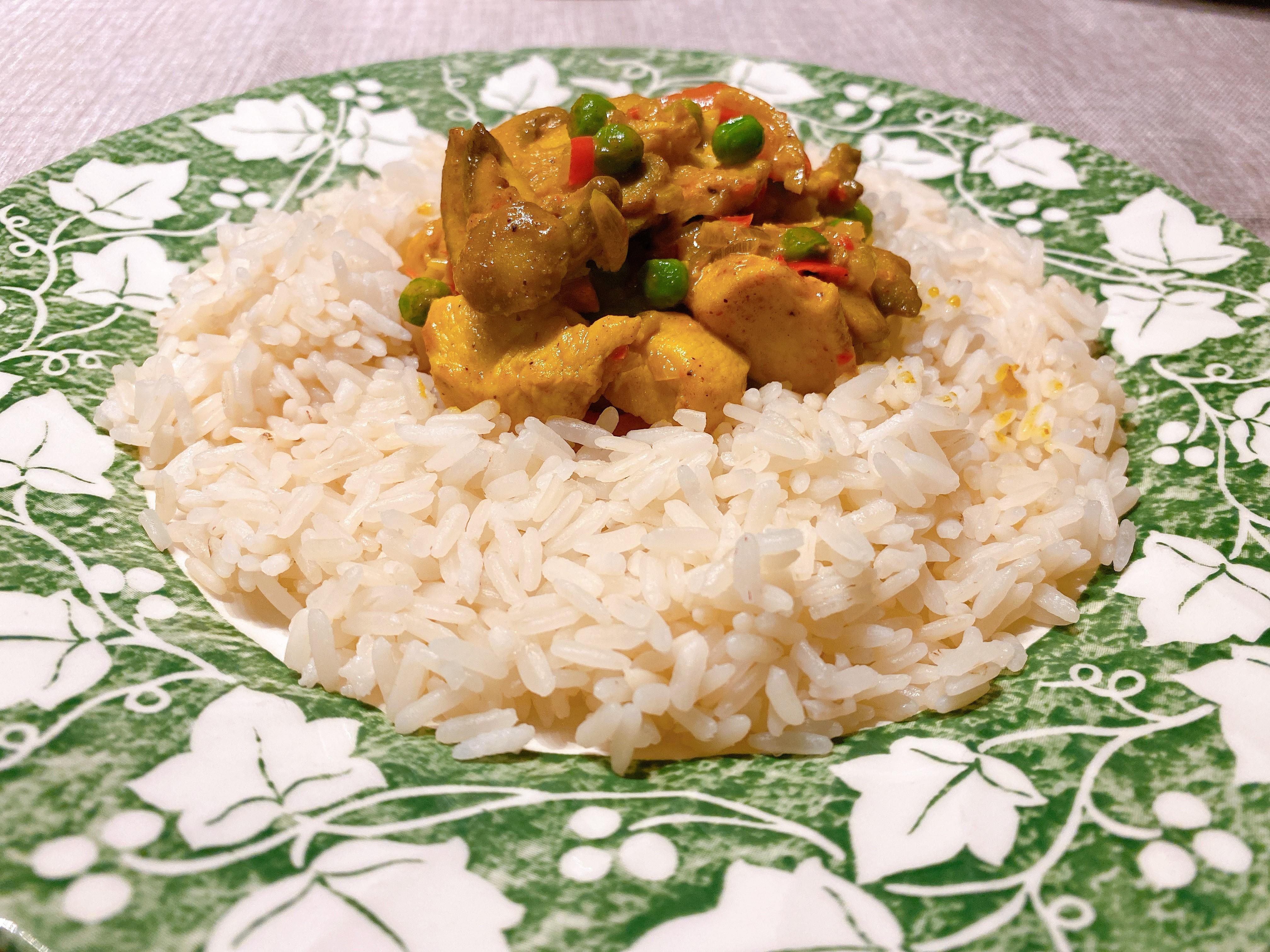 pittige kip curry